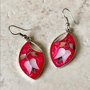 Jewelry - Alpaca Mexico Silver & Shell Earrings